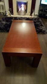 Mahogony wood coffee table