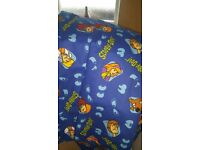 Scooby Doo curtains (66 inches wide nd 72 inch drop) and scooby doo toy/door stop