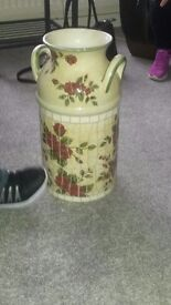 Vase with flowers on