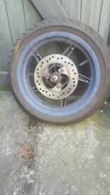 Aprilia SR125 front and rear wheels
