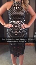 MIDI length lace dress from quiz