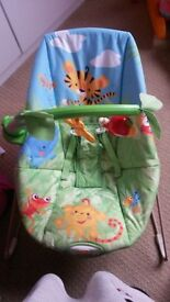 unisex baby bouncer jungle theme