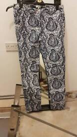 Blues and white women's jeans size 16