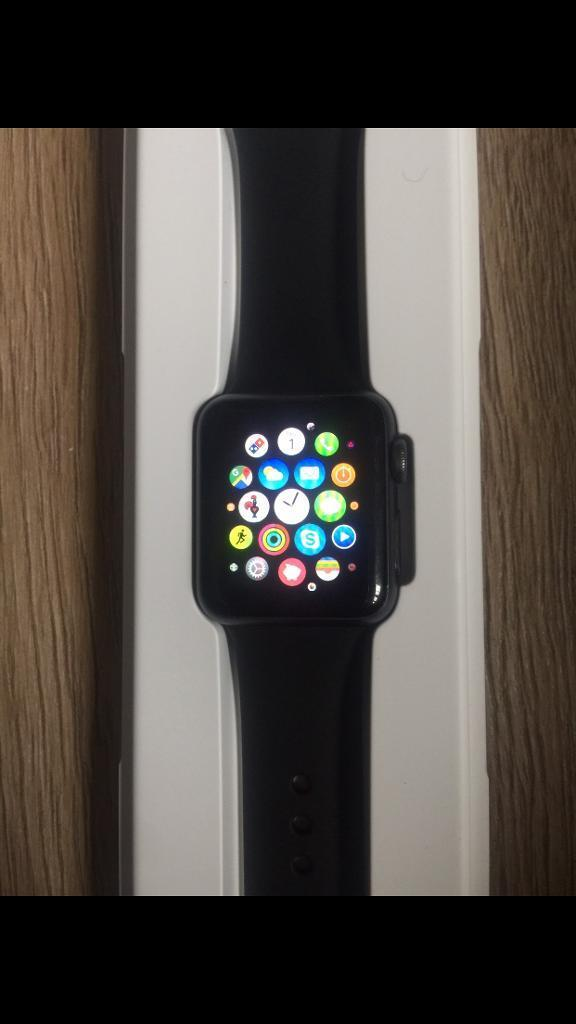 Apple Watch 38mm Sport with 3 strapsin Blackpool, LancashireGumtree - Selling my first generation Apple Watch. It has some slight cosmetic marks (pictured) but works perfectly. Comes with black sports strap (Apple), Blue Milanese Loop (Non Apple) and Orange Sports Strap (Non Apple). Also comes in box with genuine...
