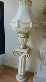 Cream Roman Style Lamp with Stand