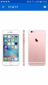 Iphone 7 rose gold 128g exelant cond only about 2 weeks old has box charger ear phones