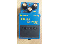 BOSS BD-2 Blues driver effects pedal with box