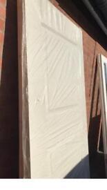 Internal Fire doors 2 Panel primed white by Jeldwen x 2