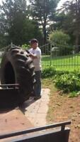 Tractor tire five