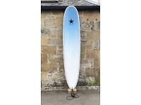 SHIPPING, Indie Longboard Surfboard 9'0 Noserider 2+1, SET, Epoxy, leash, bag, 75L