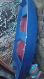 9ft fiberglass dinghy perfect ready to go boat