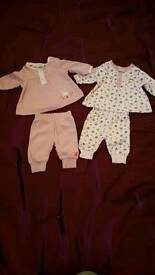 2 new baby girls sets 0-3 months