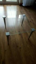 Glass ikea coffee table