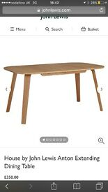 New John Lewis oak dining table modern dining table 4 seater table 6 seater table