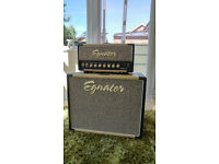 Egnater Rebel-20 amp and matching cabinet with Eminence Texas Heat speaker.