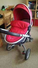 Silver cross surf with carrycot/seat unit +extras