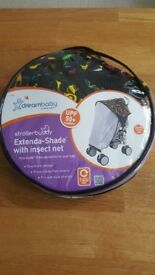 Pushchair stroller folding sunshade insect dreambaby Brand New