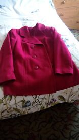 Ladies smart warm red jacket from Bon Marche