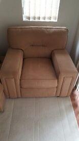 Beige/Brown Armchair