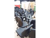 Assorted Black Office Swivel Chairs