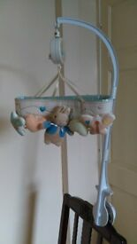 Peter Rabbit Musical Cot Mobile with adjustable plastic arm