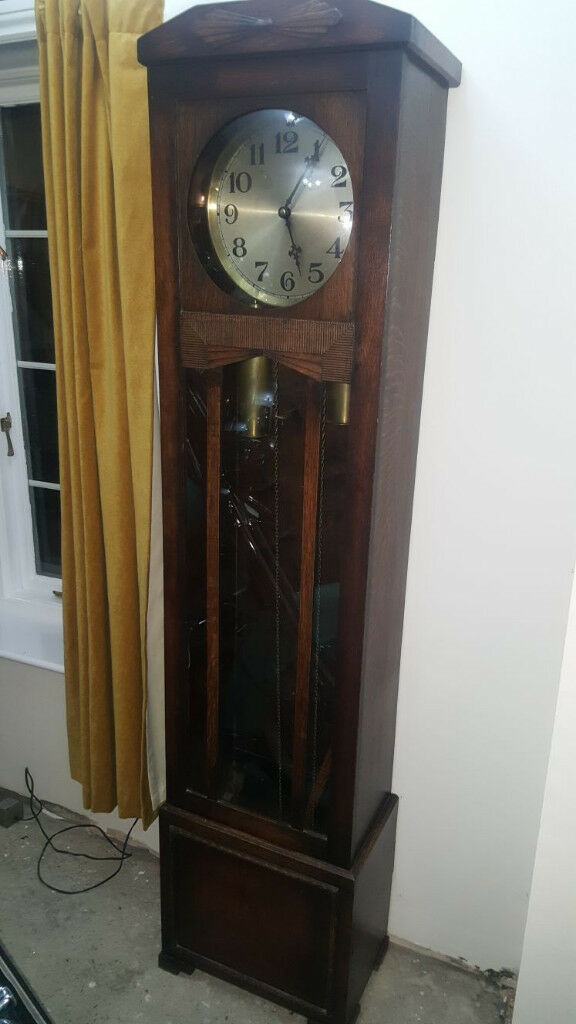 1930s long case clock very rare