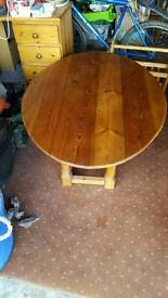 Pine drop leaf coffee table