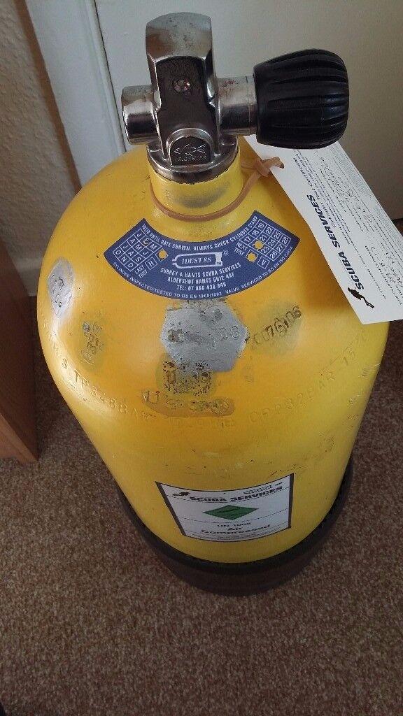 12 litre Faber steel diving cylinder. Serviced 29 Sept 17