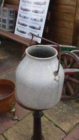 copper old milk churn