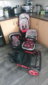 Cosatto flamingo travel set 3 in 1