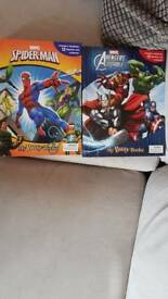 Spiderman and Avengers Assemble busy books.
