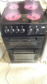 **BEKO 50cm ELECTRIC COOKER**CERAMIC**BLACK**COLLECT\DELIVERY**EXCELLENT CONDITION**NO OFFERS**