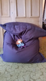 Chocolate brown giant bean bag