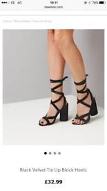 New look suede block heel shoes size uk 6