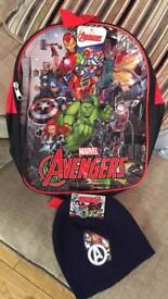 Marvel avengers - backpack and hat