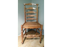 Antique Georgian Ladder Back Country Chair