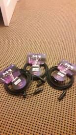 3x 5m XLR cables (bundle or individuals)