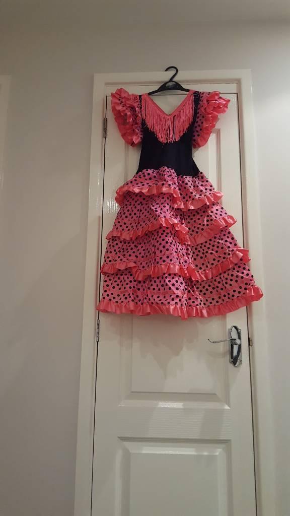 Traditional flemenca Spanish dress