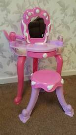 Girls Pink Dressing Table and Stool