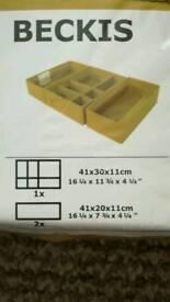 IKEA Beckis Storage Organizer Boxes