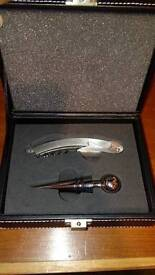 Wine bottle opener with gift case
