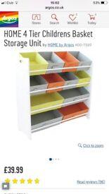 Argos children's storage