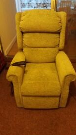 Electric riser recliner chair for elderly or infirm person