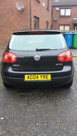 volkswagen golf, 1.6lt petrol, manual, black, including base box and sound sterero.