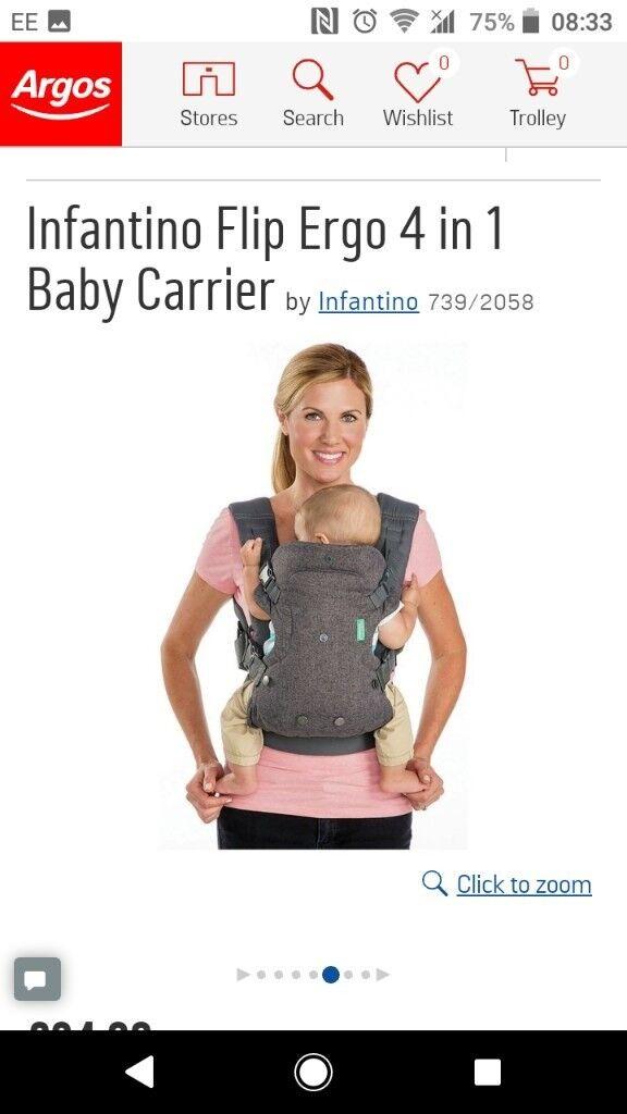 43a06e38d2d Infantino Flip Ergo 4 in 1 Baby Carrier