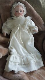 "C PAUL BISQUE ALBERON BABY DOLL 14"" 1987"
