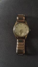 Rare Helvetia Britannia vintage gents wristwatch.Handwind mechanism, Circa 1960 - 1969.
