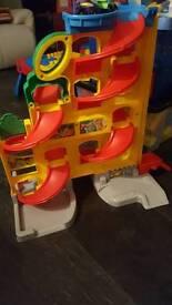 Fisher price stand and play wheelie garage