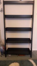 large black ladder shelf
