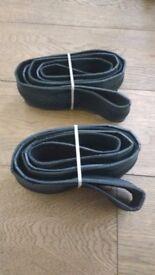 Pair Vittoria Zaffiro 700x28 folding tyres